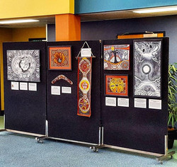Hanging for an Art show at Griffith University Logan Campus today. The show is tonight and showcases