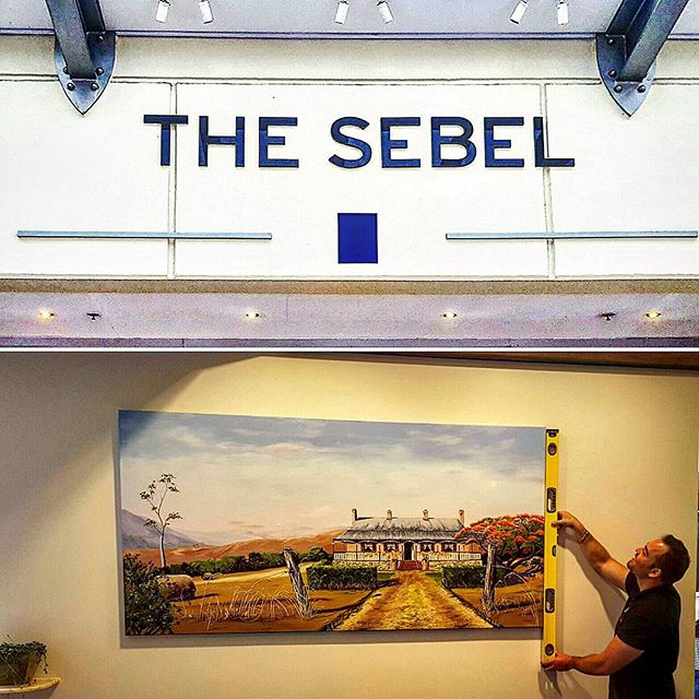 Hanging some beautiful art in the stunning Hotel, _sebelbrisbane today at 95 Charlotte st Brisbane
