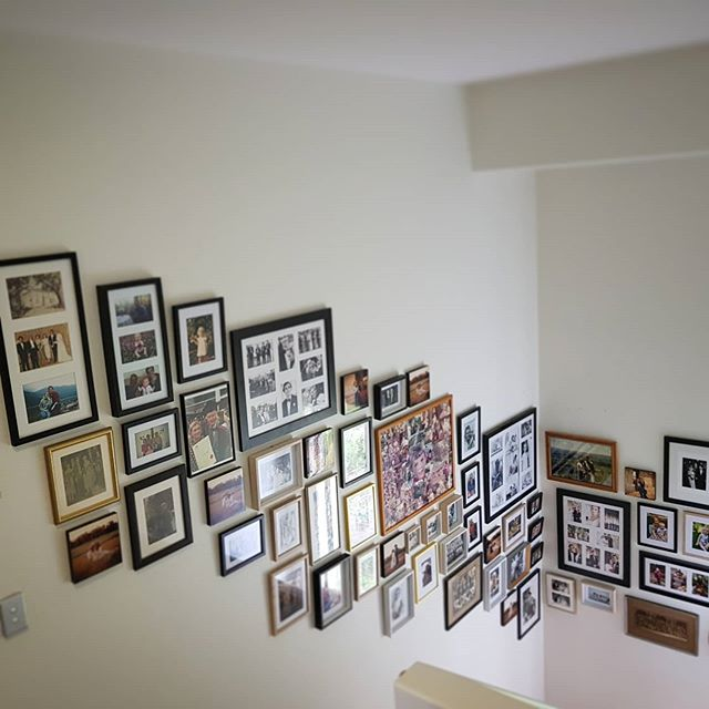 Another family photo wall going up in a