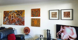 Not one space left! Every wall in this apartment had art on it and by the end of the hang, their was