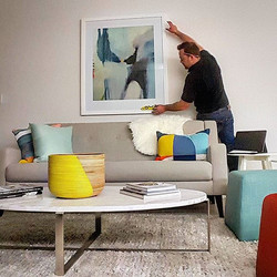 Adding the final touches to this beautiful apartment in Newstead. _Need it on the wall_ Give us a ca