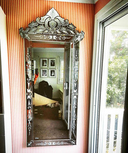 Happy Hanging Wednesday! Had some beautiful Venetian Mirrors to hang today. Our client found these g