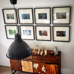 Hanging a very nice series of photographs today for a lovely client in Brisbane._Need it on the wall