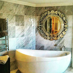 Hung this beautiful Venetian mirror into tiles today at a home in Bulimba. Great bathroom, great hom