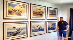 Hanging on Saturday! _Had the pleasure of hanging these super rare WWII fighter plane memorabilia th