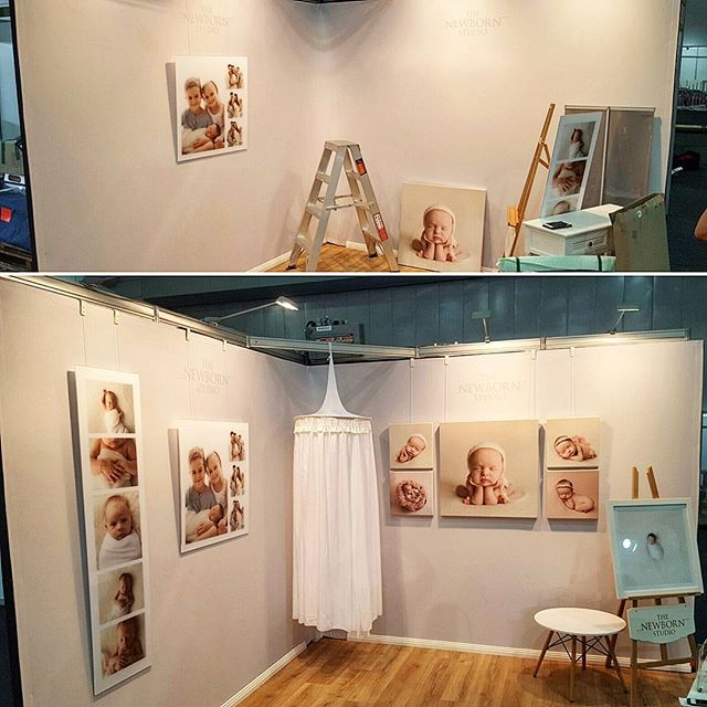 Here's a before and after shot of  _thenewbornstudio_brisbane fantastic exhibition