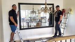 This is a great way to start the weekend! This mirror works perfectly in this stairwell and its exac
