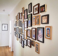 I finished hanging this beautiful wall of memories in a cluster style for my client yesterday aftern