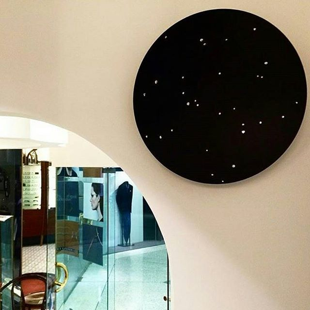 Regram from _optikoeyewear _I was able to hang this fantastic artwork by _nadine__cameron called _Em