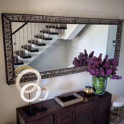 Now this is one huge and heavy mirror that took 3 people to lift on!_Keep calm and call the hangers