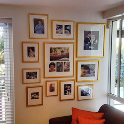 Absolutely love hanging family cluster walls!_Such a great way to hang your families treasured memor