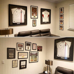 Signed English rugby jersey, Signed english football jersey, Signed tickets by David Beckham,  Signe