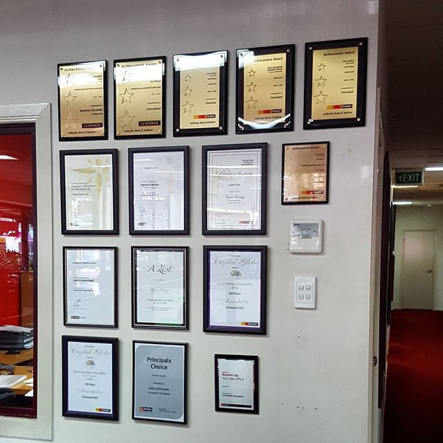 Hanging certificates and many awards for the very talented people _ljhooker in cleveland today