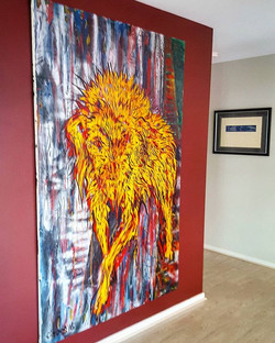 Picked up & hung this amazing painting from _mitchellfineartgallery this morning
