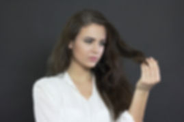 Поврежденные кончики волос