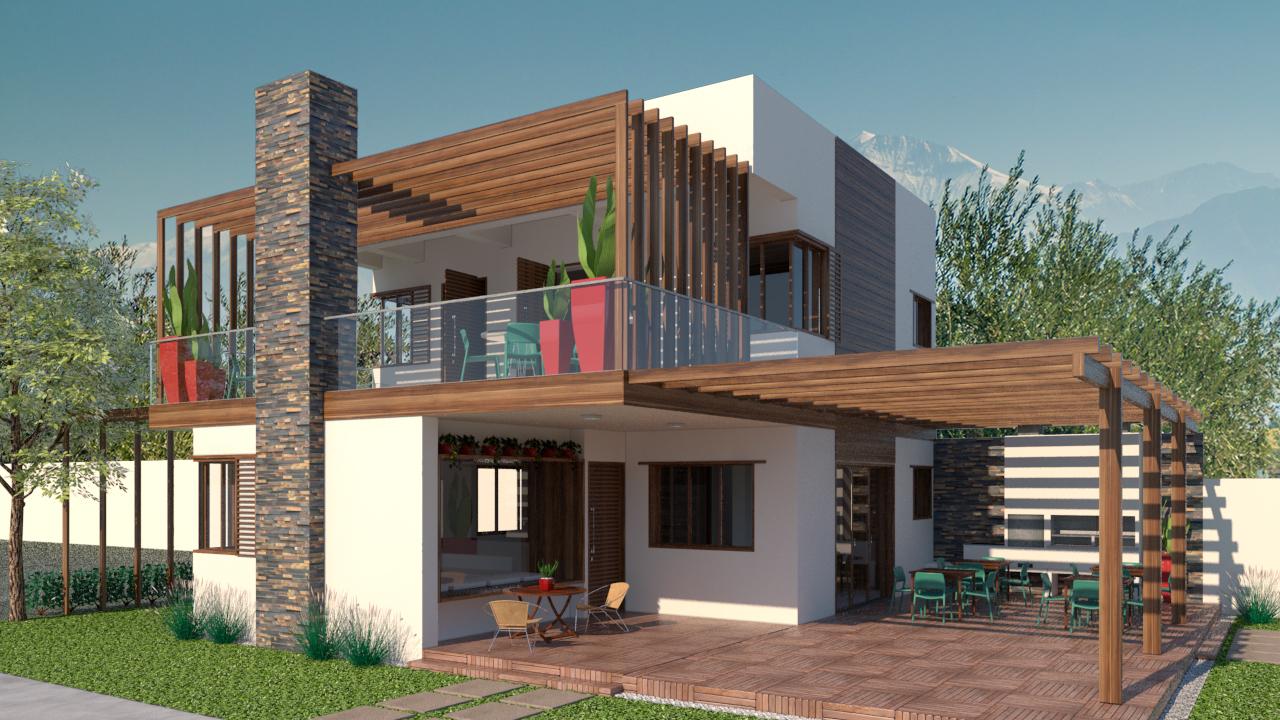 Residencia nos Andes. 3D