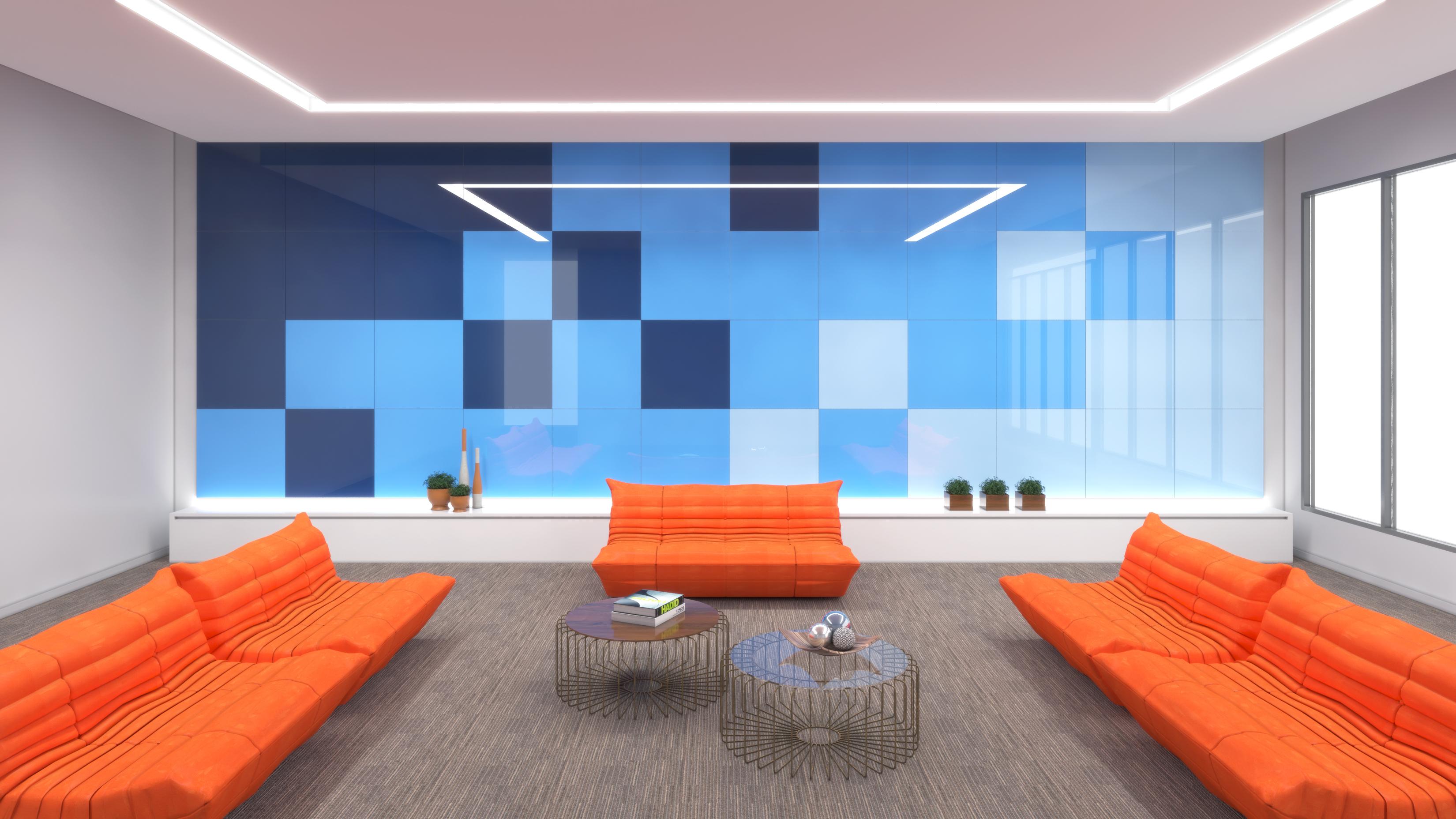 Lobby Hotel - Multpainel. 3D