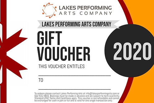 Lakes Performing Arts Company Gift Vouchers, for Dance, Drama, Music, Zumba, or Band lessons. Available now for Christmas.