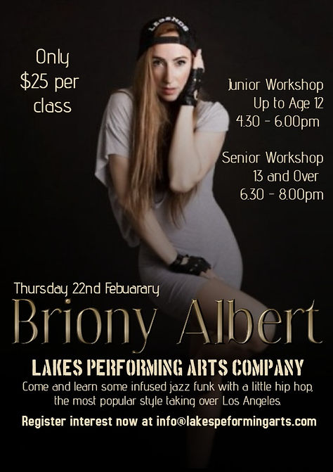 Lakes Performing Arts Company workshop with Briony Albert