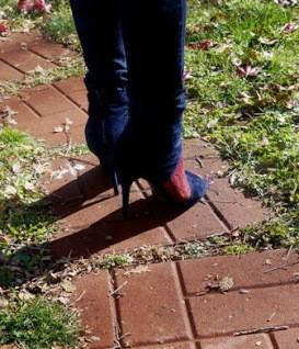 Shoe Memoir on Indigo Open Toe Sandal Bootie