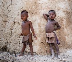 enfants himbas  namibie