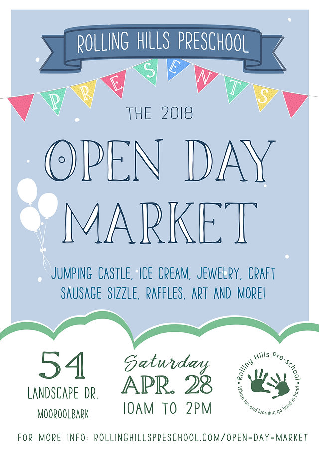 Rolling Hills Preschool Open Day Market