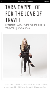 Tara Cappel Magazine Article | FTLO Travel | Group Trips for Young Professionals