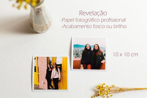 Revelação fotográfica 10 X 10 cm
