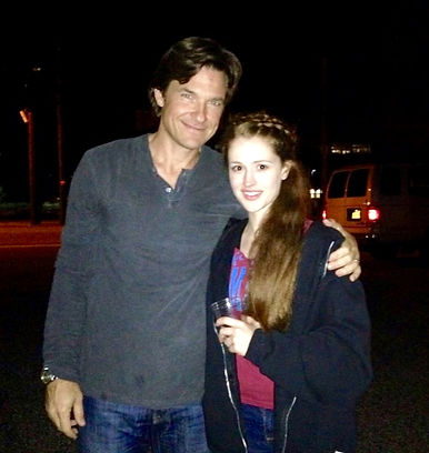 Voice Student of Caroline Selia, Taylor Rose, on set with Jason Bateman for the movie, The Family Fang.