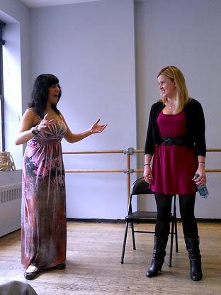 New York City Voice Teacher, Caroline Selia, in a masterclass for her voice studio class.
