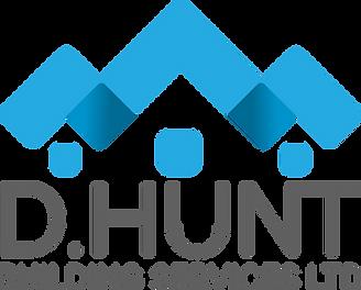 D Hunt Logo (Grey writing transparent ba