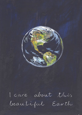 36 FRONT I care for this beautiful Earth