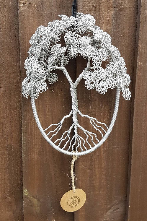 Tree of Life oval hoop wire sculpture