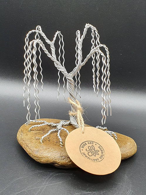 Small Aluminium Wire Willow Tree Sculpture