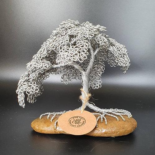 Medium Summer Leaf Aluminium Wire Tree Sculpture