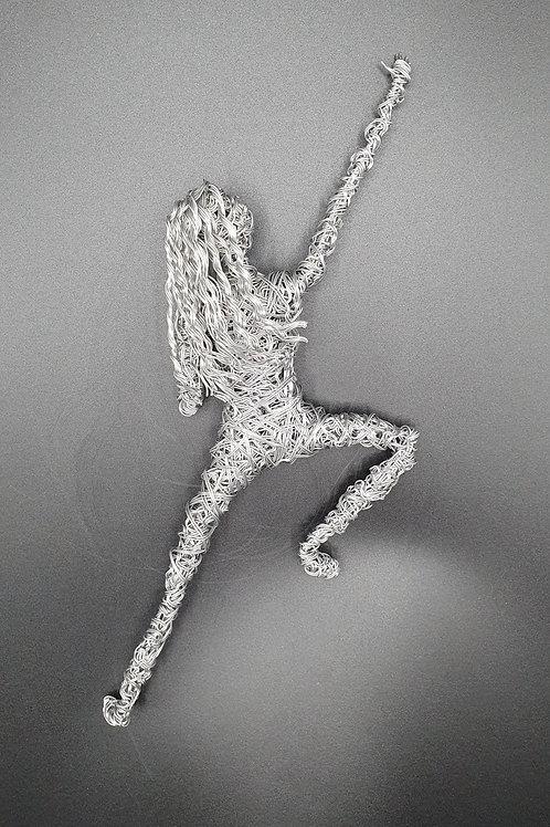 Climber 3D Wall Mounted Wire Sculpture
