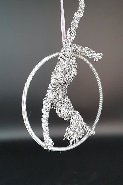 """6"""" Aerial Acrobat  Gymnast Aluminium Sculpture Indoor or Outdoor Use"""