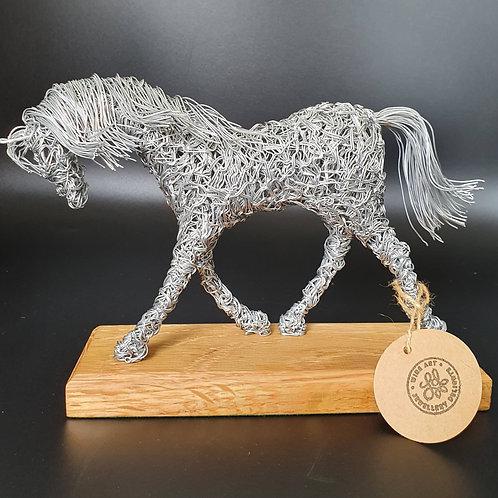 Trotting Horse Aluminium Wire Sculpture