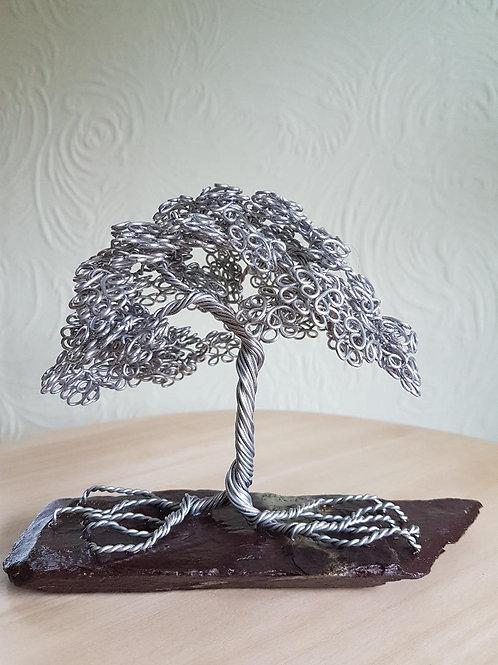 Summer Leaf Aluminium Wire Tree Sculpture