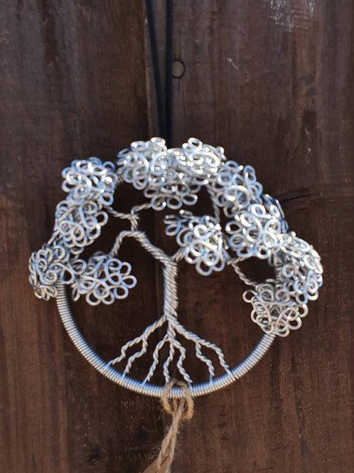 Tree of Life hooped wire art, garden, window or door handle decoration