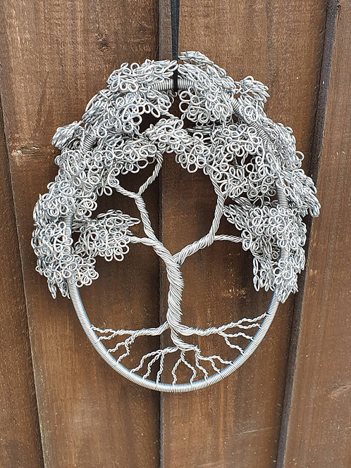 Garden Decoration, Wire Tree of Life, Hooped Wire Art