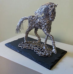 Wire horse sculpture pony ornament horse art work