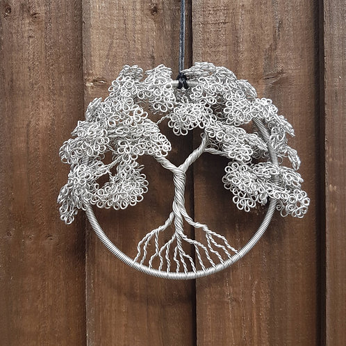 Tree Of Life Aluminium Hoop Window or Garden Decoration