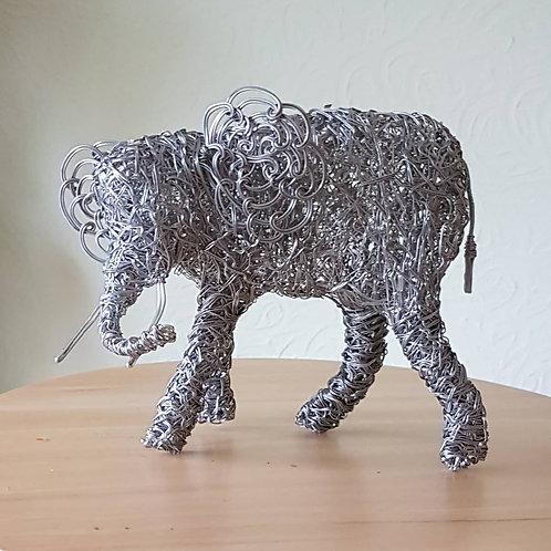 Elephant, Aluminium Wire Sculpture