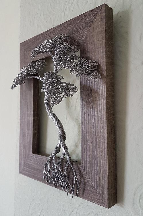 Bonsai Tree, Framed bonsai tree, aluminium wire work wall art decoration
