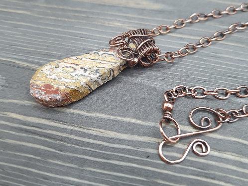 Copper Wire Weave Necklace