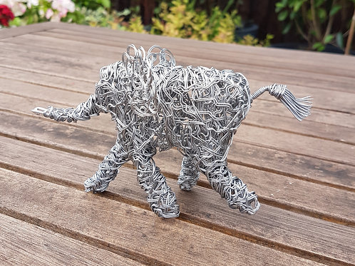 Baby Elephant Wire Sculpture
