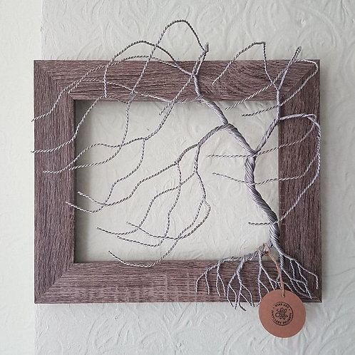 3D Windswept Wire Willow Tree Frame Wall Mounted Tree Sculpture