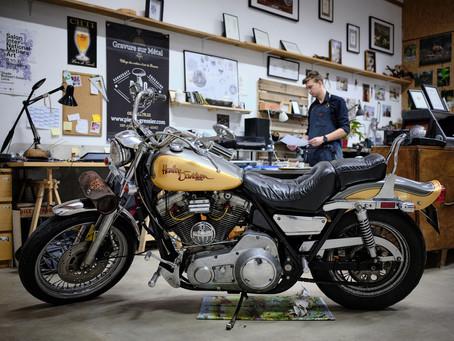 Native american Harley Davidson