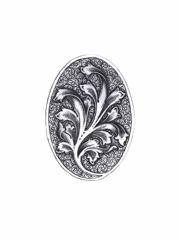 calotte en tapisserie de genre anglais et feuille d'acanthe